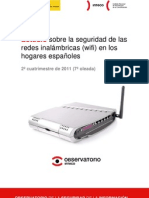 Estudio sobre la seguridad de las redes inalámbricas (wifi) en los hogares españoles, 2º cuatrimestre de 2011