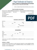 Modelo de Contrato de Estagio