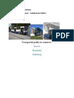 Transportul Public in Comun in Brasov, Bordeaux, Edinburg