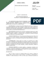 Declaracion de Medellin Juventud y Valores Democraticos