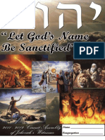 Let God's Name Be Sanctified 2 Day Circuit Assembly of Jehovah's Witnesses Notebook 2011-2012