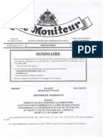 Decret portant Raficification de l'Accord USA-Haiti sur la Drogue