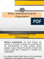 Ethics in Organizations
