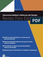 Intersectorialidad y Reforma Del Estado