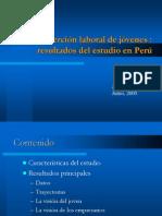 Inserción Laboral de Los jóvenes Resultados Del Estudio en Perú