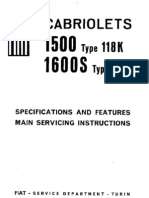 Fiat Cabriolet 1600s Manual