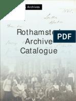 Archives Catalogue