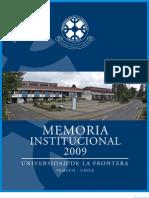 Memoria Institucional UFRO 2009
