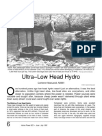 Low-Head Hydro Power