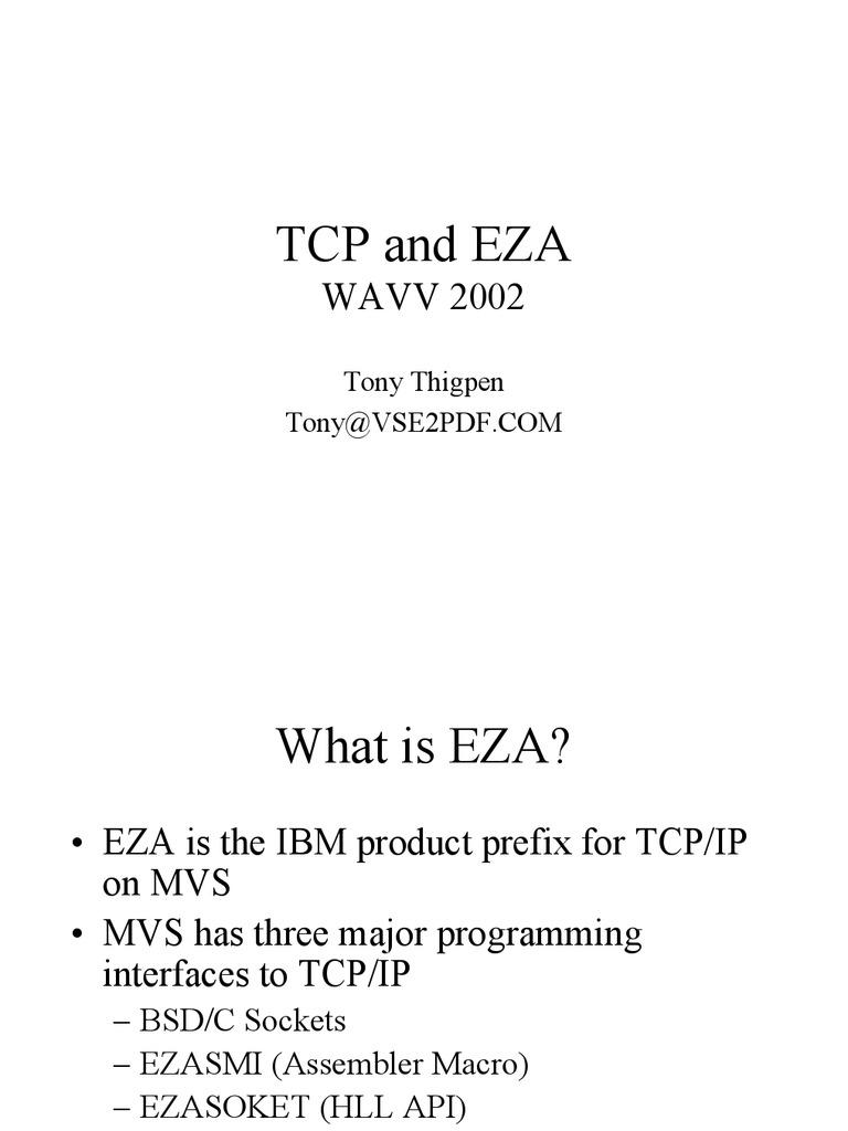 IBM-TCP-EZA-2002EZA   Network Socket   Port (Computer