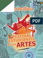Normativa Festival Estudiantil de Las Artes 2012