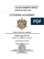 St. Mary's County Sheriff's 2012 Citizens Academy Outline