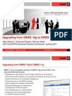 Upgrading From OBIEE 10g to OBIEE 11g