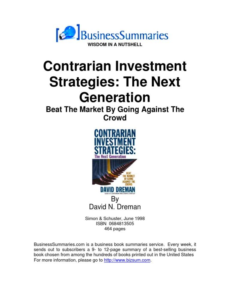 david dreman contrarian investment strategies pdf printer
