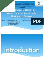 Différentes Stratégies de fixation de prix dans le milieu Business to Business
