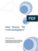 Práctica final - 'Mi credo pedagógico' de John Dewey