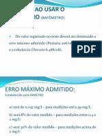 CUIDADOS AO USAR O ETILÔMETRO (BAFÔMETRO)