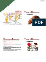 TECO-AC01_CLASE 04 CLASIFICACIÓN DE LA COMUNICACIÓN
