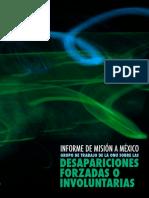 Informe de la ONU sobre Desapariciones Forzadas o Involuntarias en México