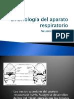 Embriología del aparato respiratorio