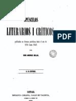 Andres Bello y Constitucionalismo
