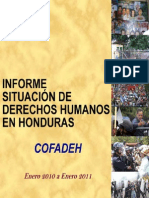 COFADEH Informe January 2010 to January 2011