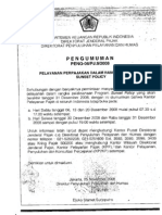 Pelayanan Sunset Policy