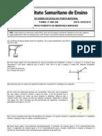 2º COLEGIAL - EXERCÍCIOS SOBRE ESTÁTICA DO PONTO MATERIAL