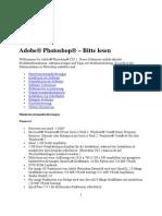 Photoshop CS5.1 - Bitte Lesen
