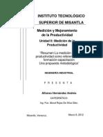 Resumen Productividad Andrés 801-B IIND