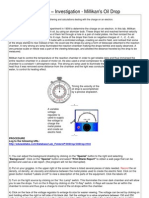Simulation Investigation_Millikan Oil Drop Experiment