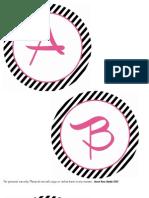 Favorite Things Banner Alphabet