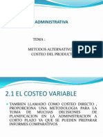 Costeo Variable