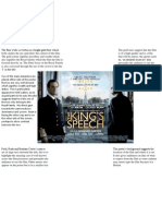 Kings Speech Poster Analysis