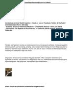 Diagnostico Ecografico y Lesiones Musculoesqueleticas en El Caballo