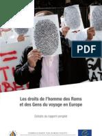 Rapport Roms Conseil de l'Europe Droits de l'Homme