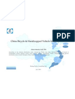 China Bicycle Handicapped Vehicle Industry Profile Cic3741