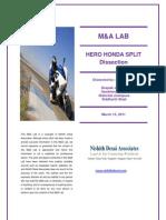 Hero Honda - M&a Lab - March 15, 2011