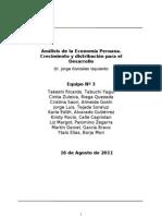 Análisis de la Economía Peruana. Crecimiento y distribución para el Desarrollo