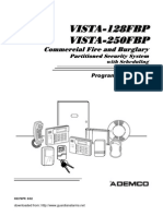 Vista-128FBP Programming Form