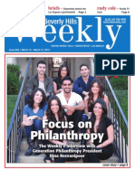 Focus on Philanthropy--Beverly Hills Weekly, Issue #650
