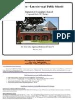 WES Preliminary Budget Presentation FY13