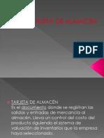 TARJETA DE ALMACEN