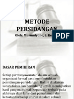 Metode Persidangan (Musmulyono Yusuf)