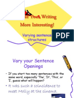 Varying Sentence Structures