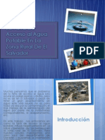 La Falta de Acceso Al Agua Potable en La Zona Rural de El Salvador