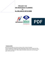 Project On hrm on bsnl and reliance telecomm