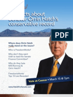 The Real Facts About Orrin Hatch's Conservative Record