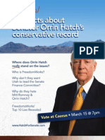 The Real Facts About Senator Orrin Hatch's Conservative Record