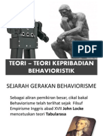 TEORI – TEORI KEPRIBADIAN BEHAVIORISTIK